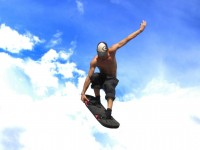 Kille som hoppar med jumpboard